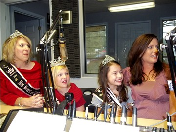 Heart of America pageant winners: Kim Harland, Sara Harland, Natalie Sanders and Kim Elrod in 2011