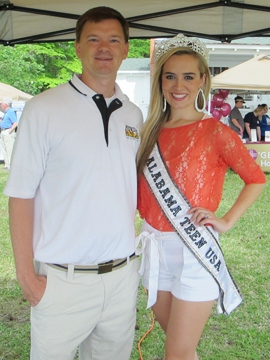 Michael Butler on-location at Children's Harbor with Alabama Teen USA Lorin Holcombe