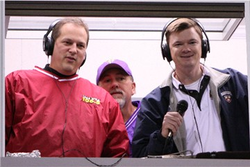 Gary Buchanan, Bob Gregory and Michael Butler in the Press Box at the Tallassee vs. Gulf Shores Playoff Game in 2009