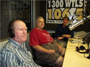 "Waymon Benson, CW Mullins and Kerry Benson during the ""Wake-Up Call"" in April, 2012"